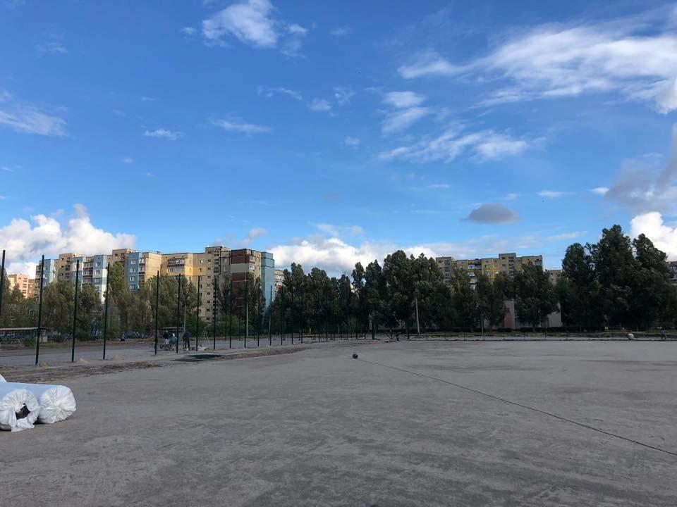 На левобережье Каменского продолжается строительство стадиона, фото-1