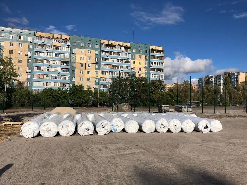 На левобережье Каменского продолжается строительство стадиона, фото-4