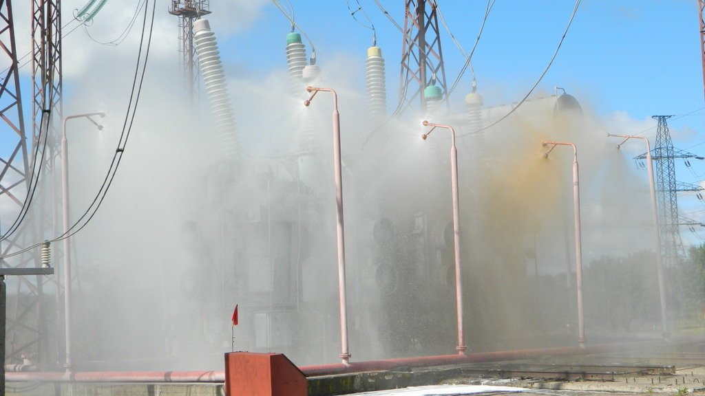 Спасатели Каменского «тушили пожар» на электроподстанции, фото-1