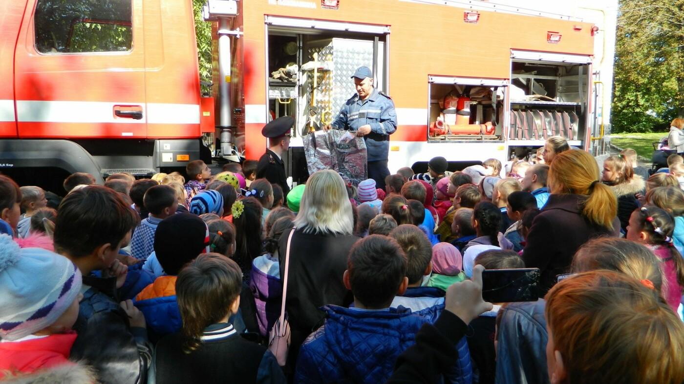 Школьники Каменского знакомились со спасателями, фото-3