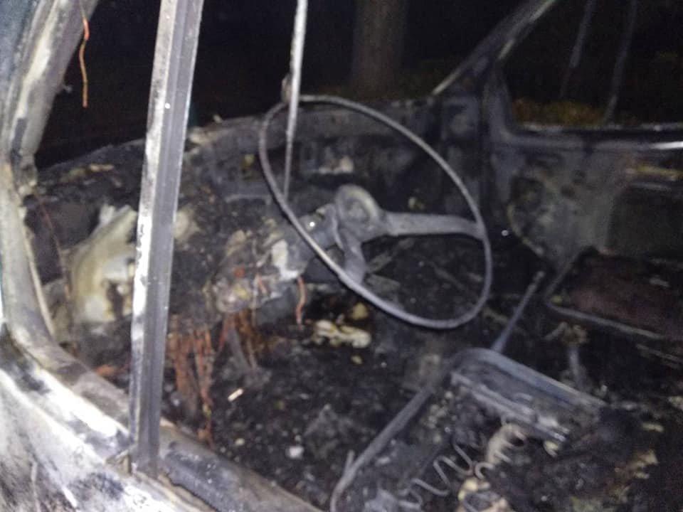 На левобережье Каменского сгорела «ГАЗель», фото-1