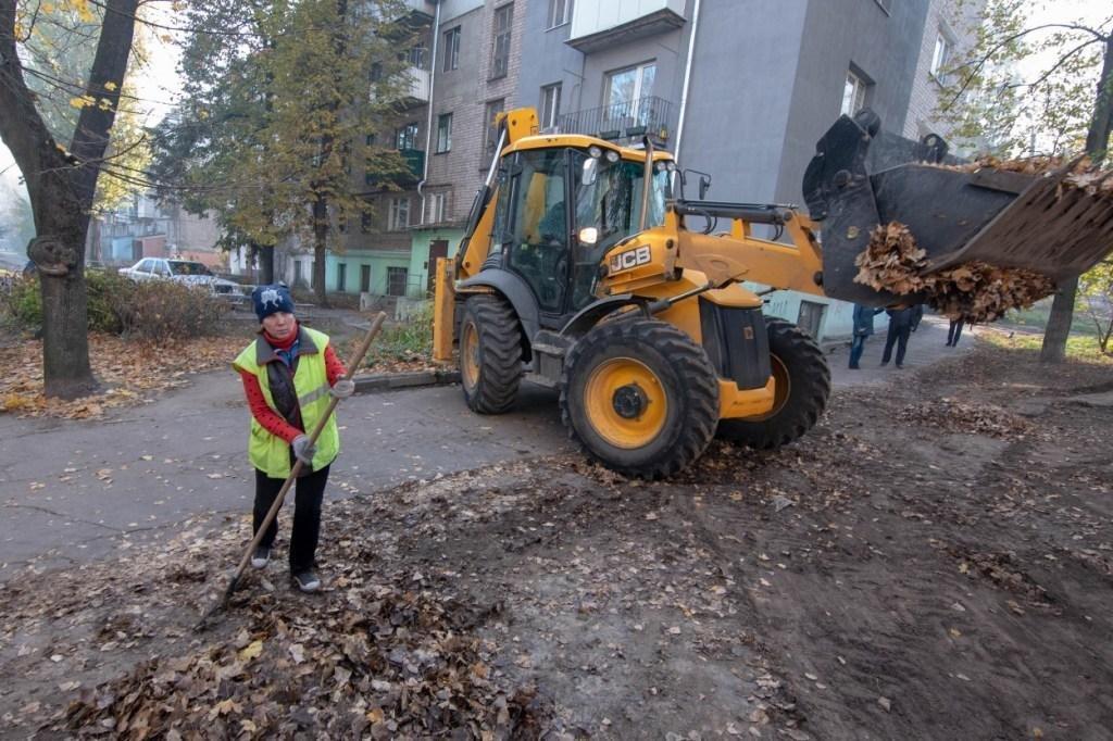 Городской голова проконтролировал уборку опавшей листвы в Каменском, фото-2