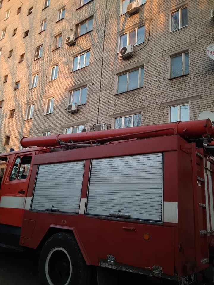 Пожар в Каменском: в лифтовой шахте горел мусор и окурки, фото-2