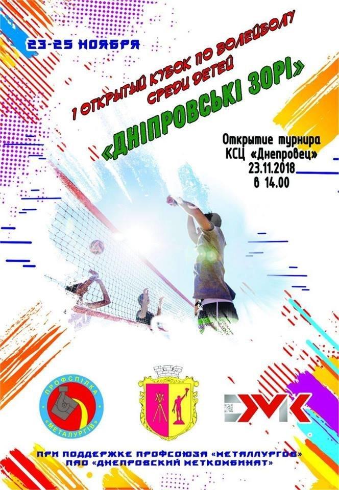 В Каменском пройдут Кубковые соревнования по волейболу, фото-1
