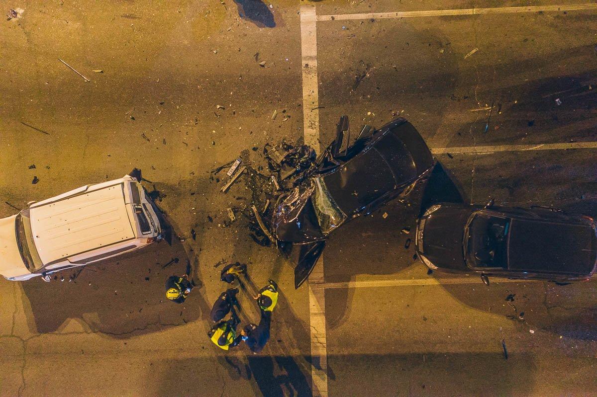 В Днепре мастштабное ДТП: столкнулись 10 автомобилей, есть пострадавшие, фото-2