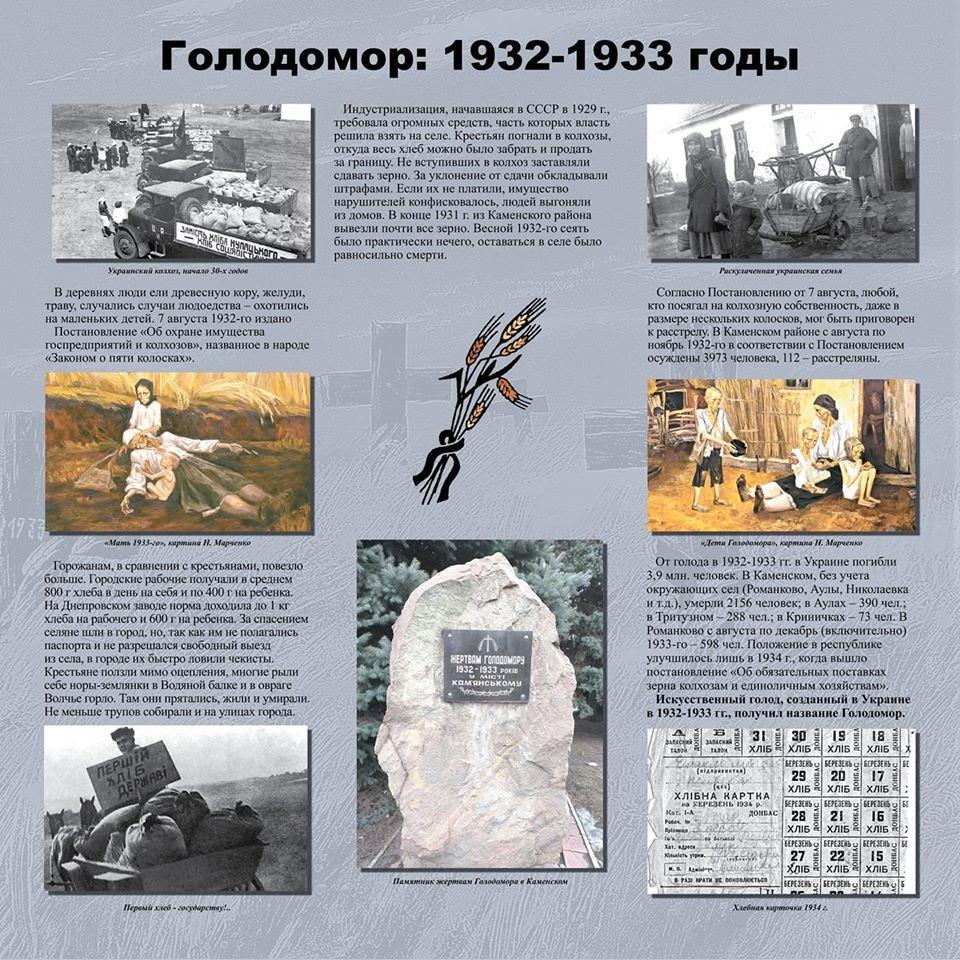 2156 умерших от голода каменчан: в музее ДМК открыли выставку о Голодоморе 1932-1933 гг., фото-1