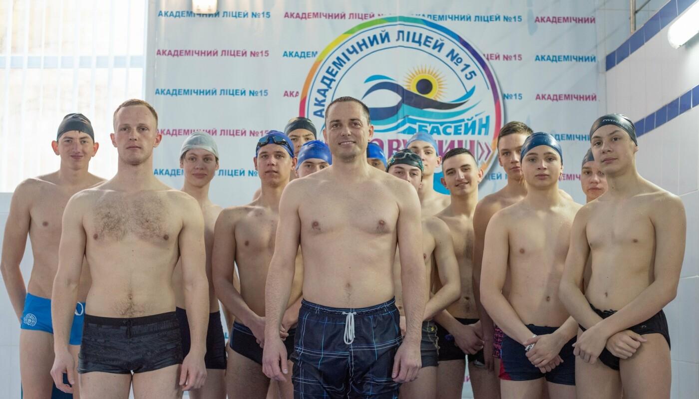 Плавали вместе с мэром: в Каменском лицее №15 прошел открытый урок по плаванию, фото-5
