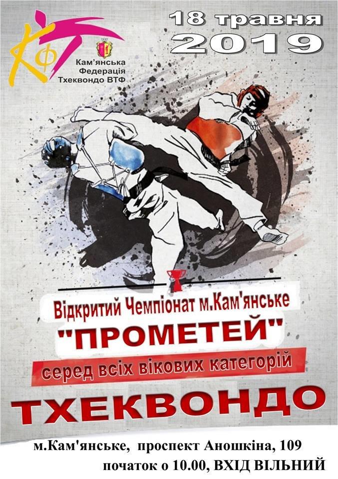 В Каменском пройдет открытый чемпионат по тхэквондо «Прометей», фото-1