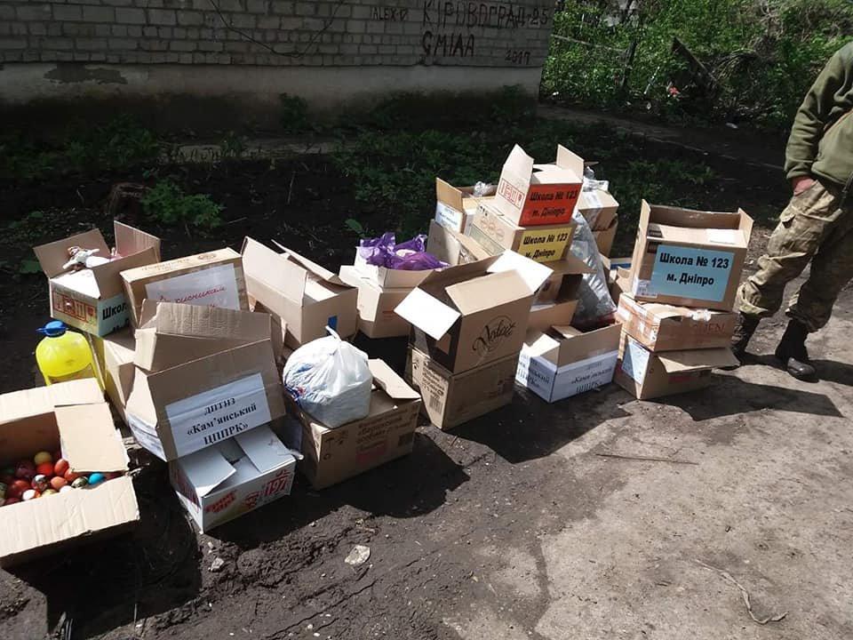 «Паску солдату»: каменчане передали военным сладости и поздравления от школьников, фото-6