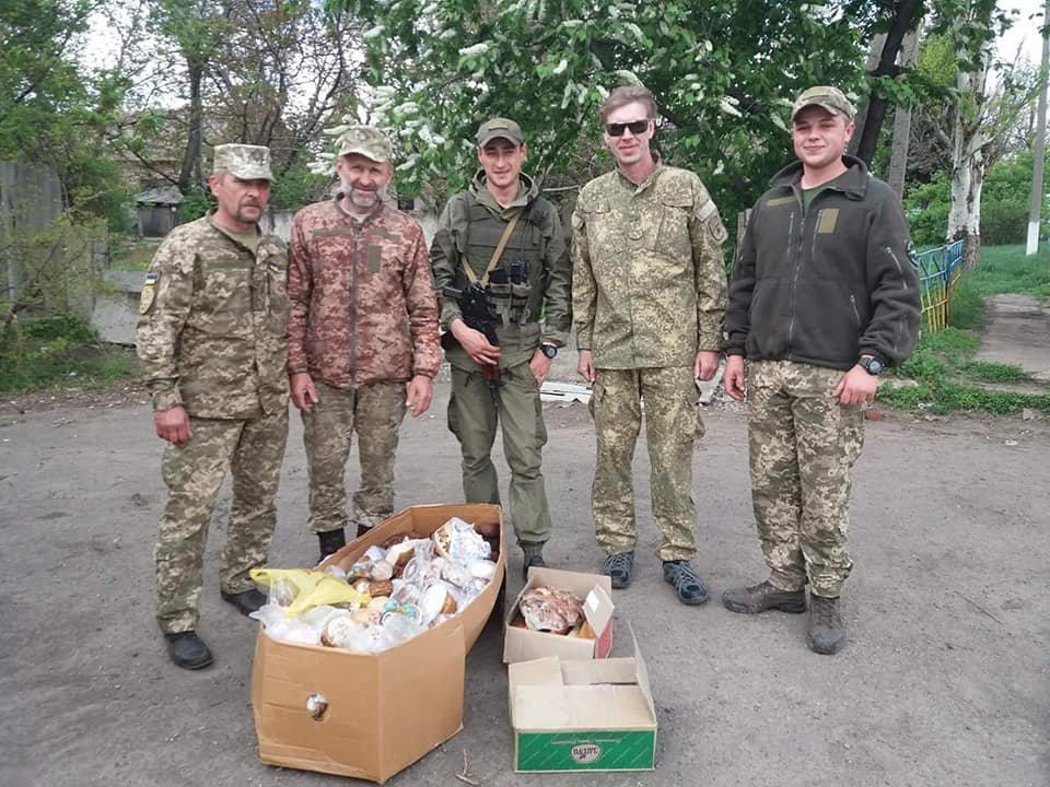 «Паску солдату»: каменчане передали военным сладости и поздравления от школьников, фото-4