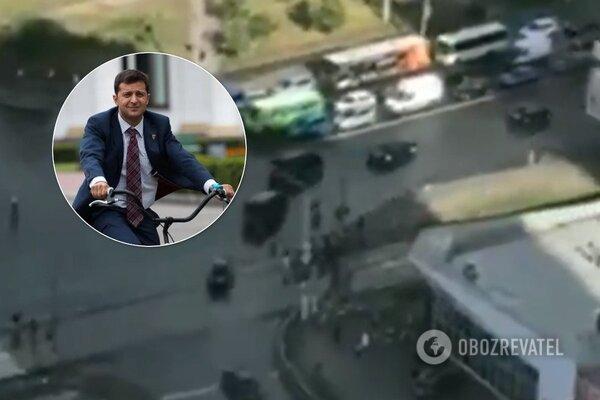 """""""Не велик, а """"Гелик"""": Видеофакт. VIP-кортеж Зеленского устроил коллапс в Киеве, украинцы возмущены, фото-1"""
