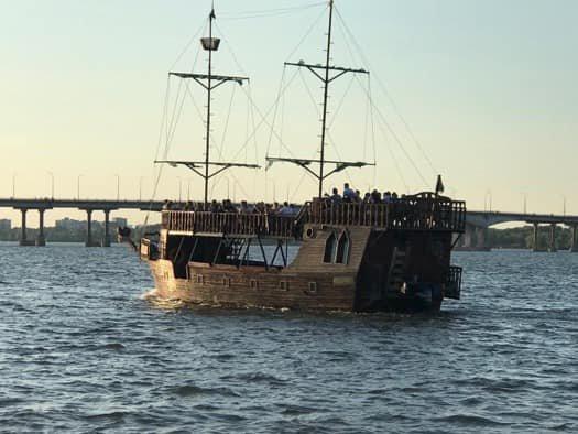В Днепре через реку запускают бесплатное такси на кораблях, фото-2