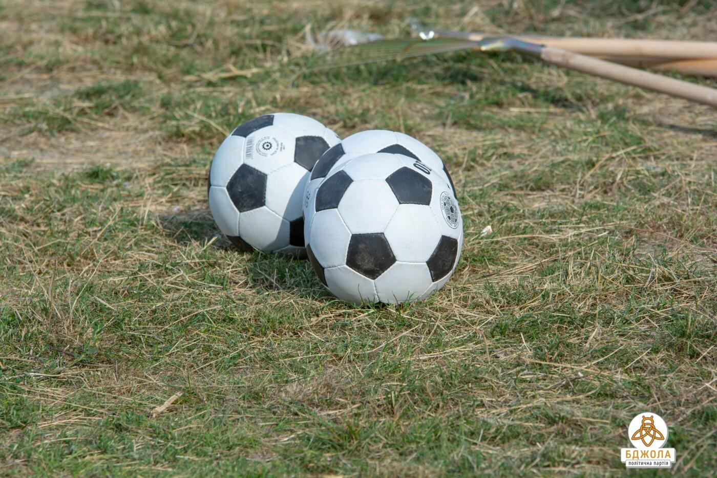 Активисты политической партии «БДЖОЛА» привели в порядок футбольное поле по проспекту Стуса, фото-4