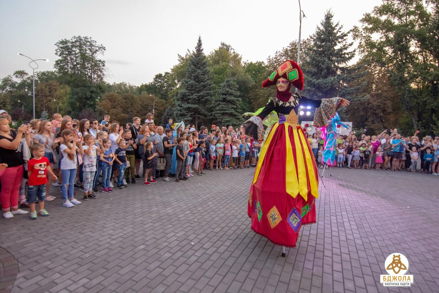 В Центральном и Левобережном парках Каменского прошли мероприятия от партии «Бджола», фото-5