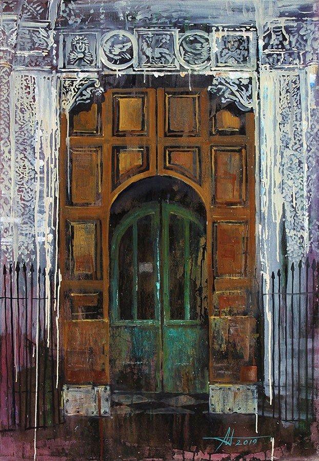 «Жизнь 13-ти дверей»: в музее Каменского открылась выставка Анатолия Менькива, фото-1