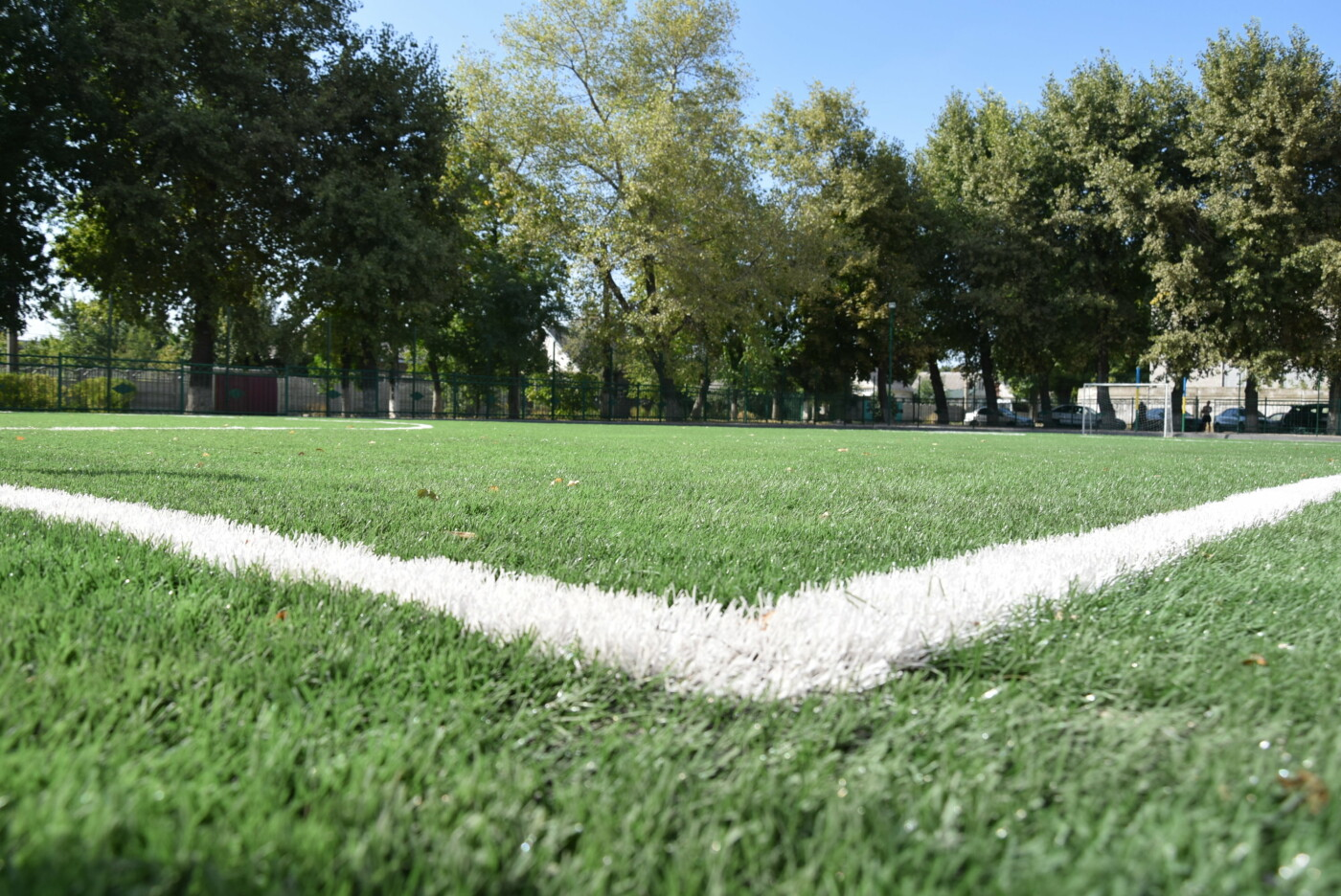 На День города двум школам Каменского подарили новые спортивные поля, фото-14