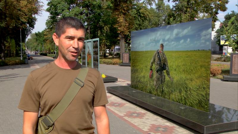 В Каменское приехал побратим погибшего воина, фото-2