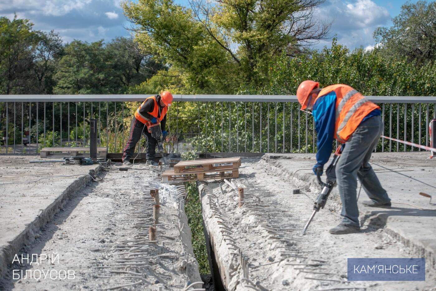 В Каменском продолжается ремонт деформационных швов на мосту , фото-2