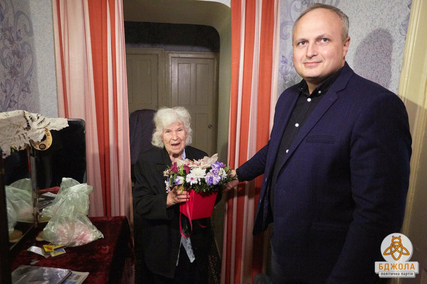 Партия «Бджола» поздравила ветеранов Каменского с 76-й годовщиной освобождения города, фото-1