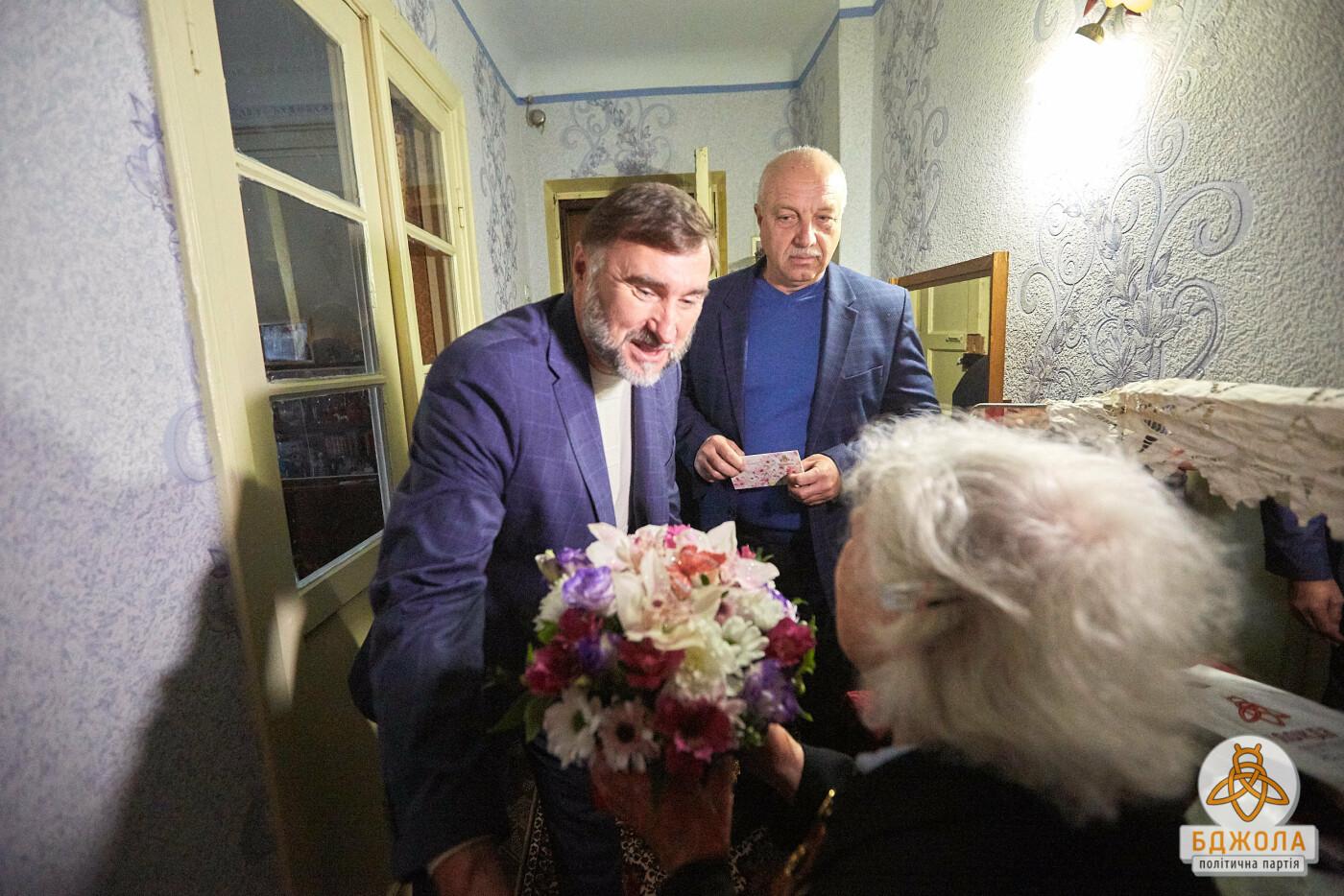 Партия «Бджола» поздравила ветеранов Каменского с 76-й годовщиной освобождения города, фото-2