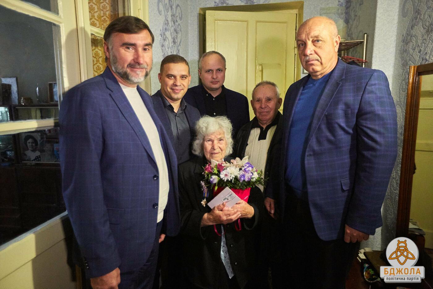 Партия «Бджола» поздравила ветеранов Каменского с 76-й годовщиной освобождения города, фото-3