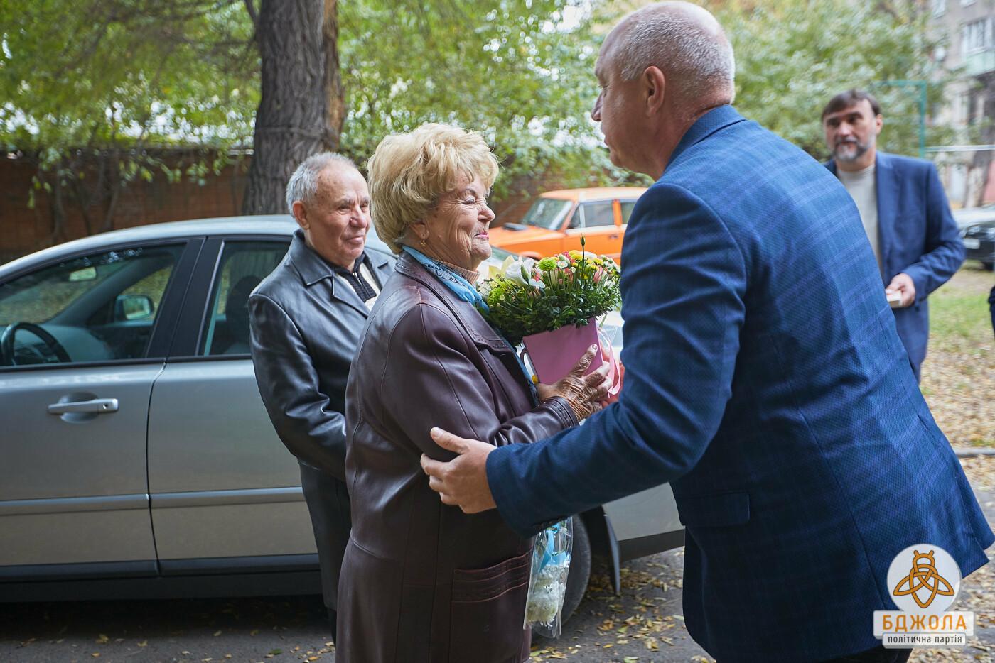 Партия «Бджола» поздравила ветеранов Каменского с 76-й годовщиной освобождения города, фото-4