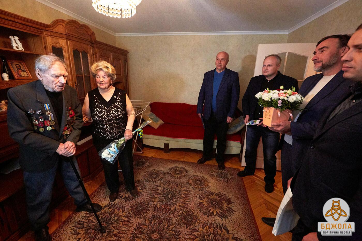 Партия «Бджола» поздравила ветеранов Каменского с 76-й годовщиной освобождения города, фото-5