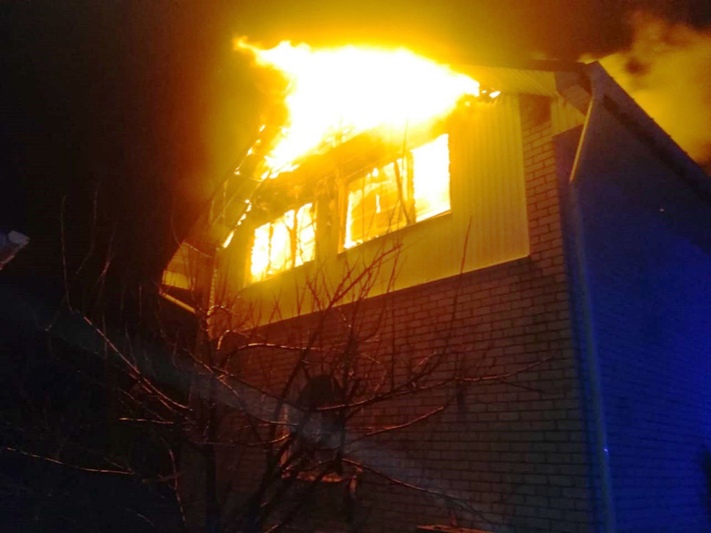 Под Каменским сгорел дом, фото-1