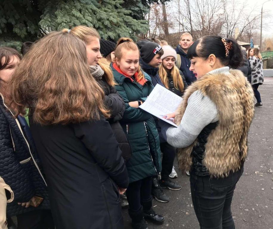 Каменские спасатели эвакуировали студентов металлургического колледжа, фото-4