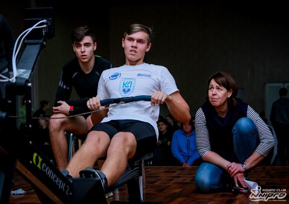 Каменские гребцы-академисты соревновались на эргометрах, фото-45