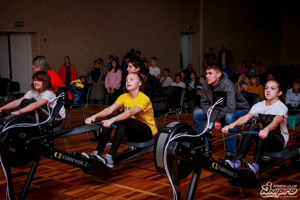 Каменские гребцы-академисты соревновались на эргометрах, фото-31