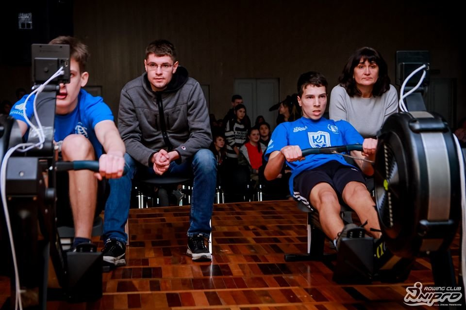 Каменские гребцы-академисты соревновались на эргометрах, фото-13
