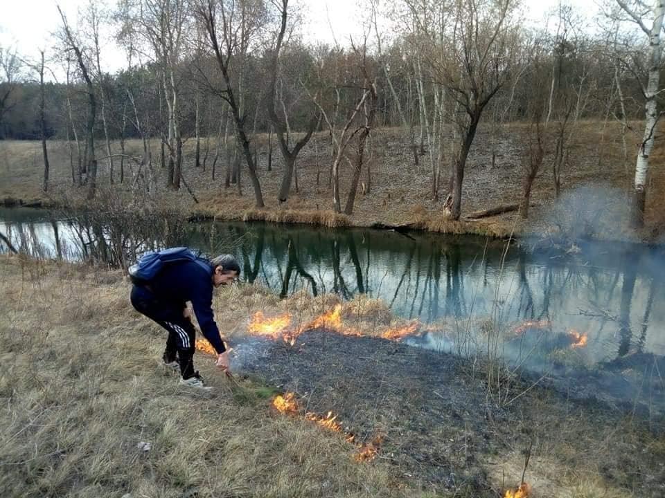 В Каменском горит экосистема, фото-1