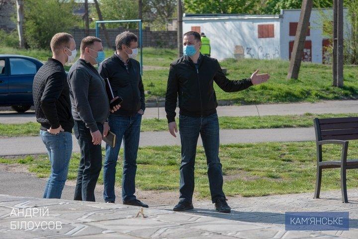 Мэр Каменского объехал скверы, парки и места общего пользования, фото-5