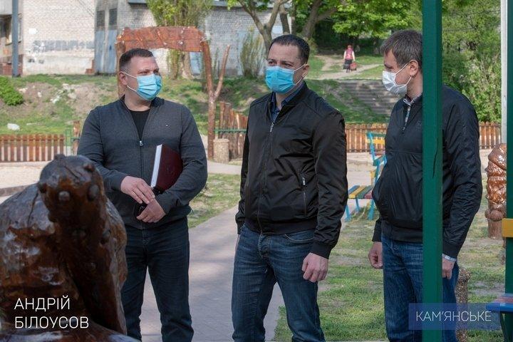 Мэр Каменского объехал скверы, парки и места общего пользования, фото-7