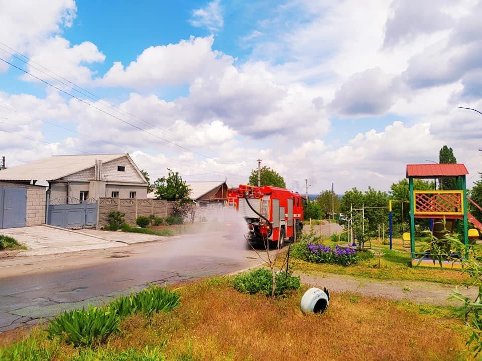 В Каменском продезинфицировали частный сектор Южного района, фото-1