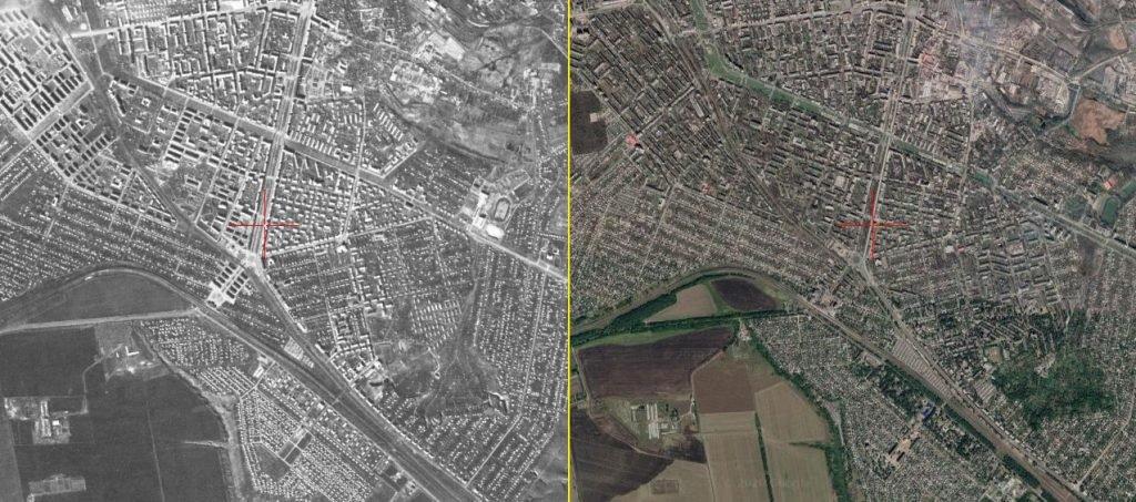 Как выглядел Днепродзержинск в 1970-м: фото со спутника, фото-1