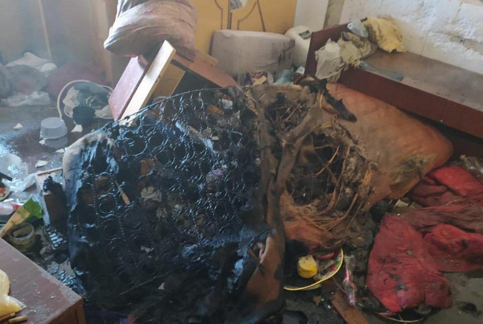 В Каменском на Аношкина горел матрас, фото-1