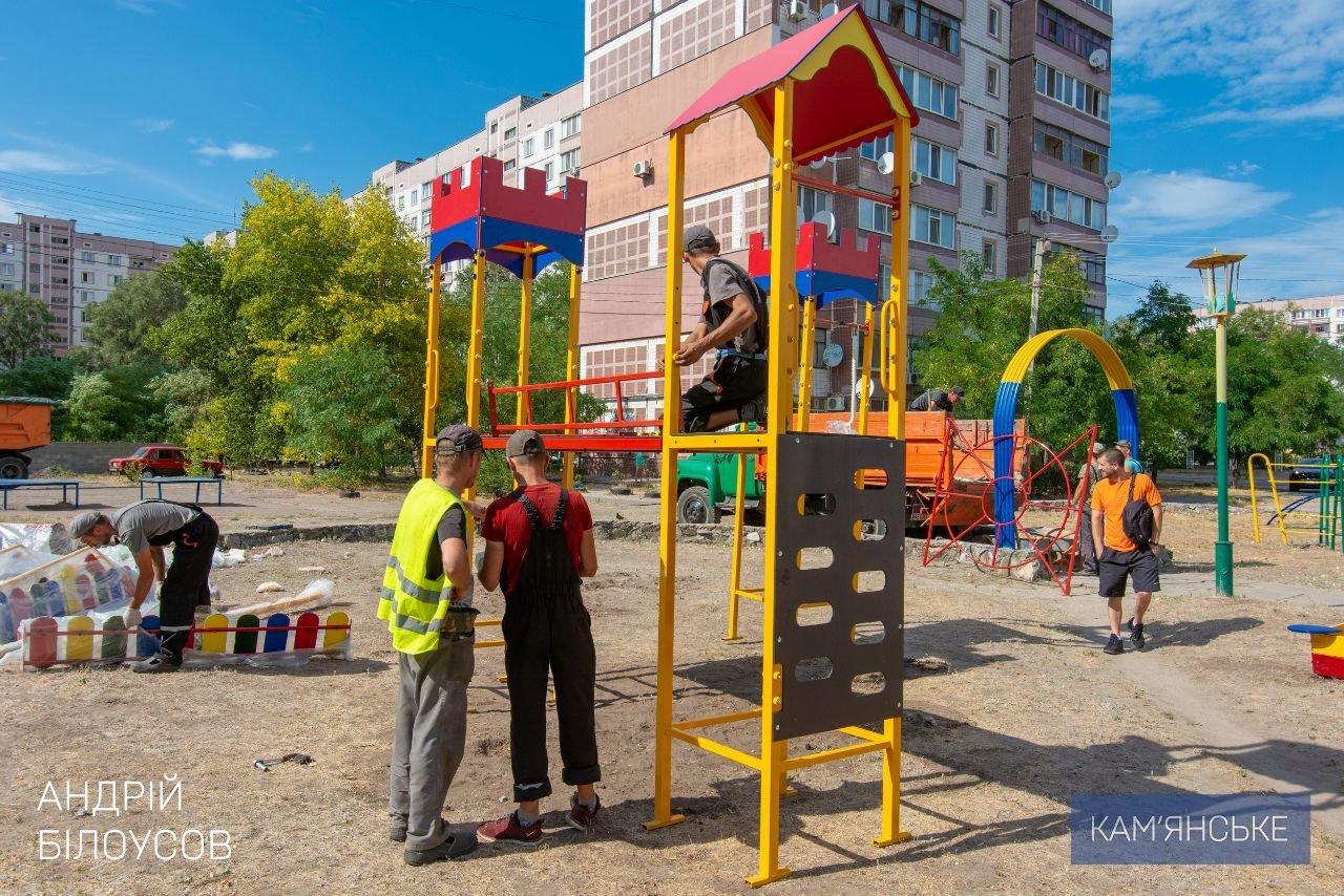 В Каменском устанавливают детские и спортивные площадки во дворах, фото-2