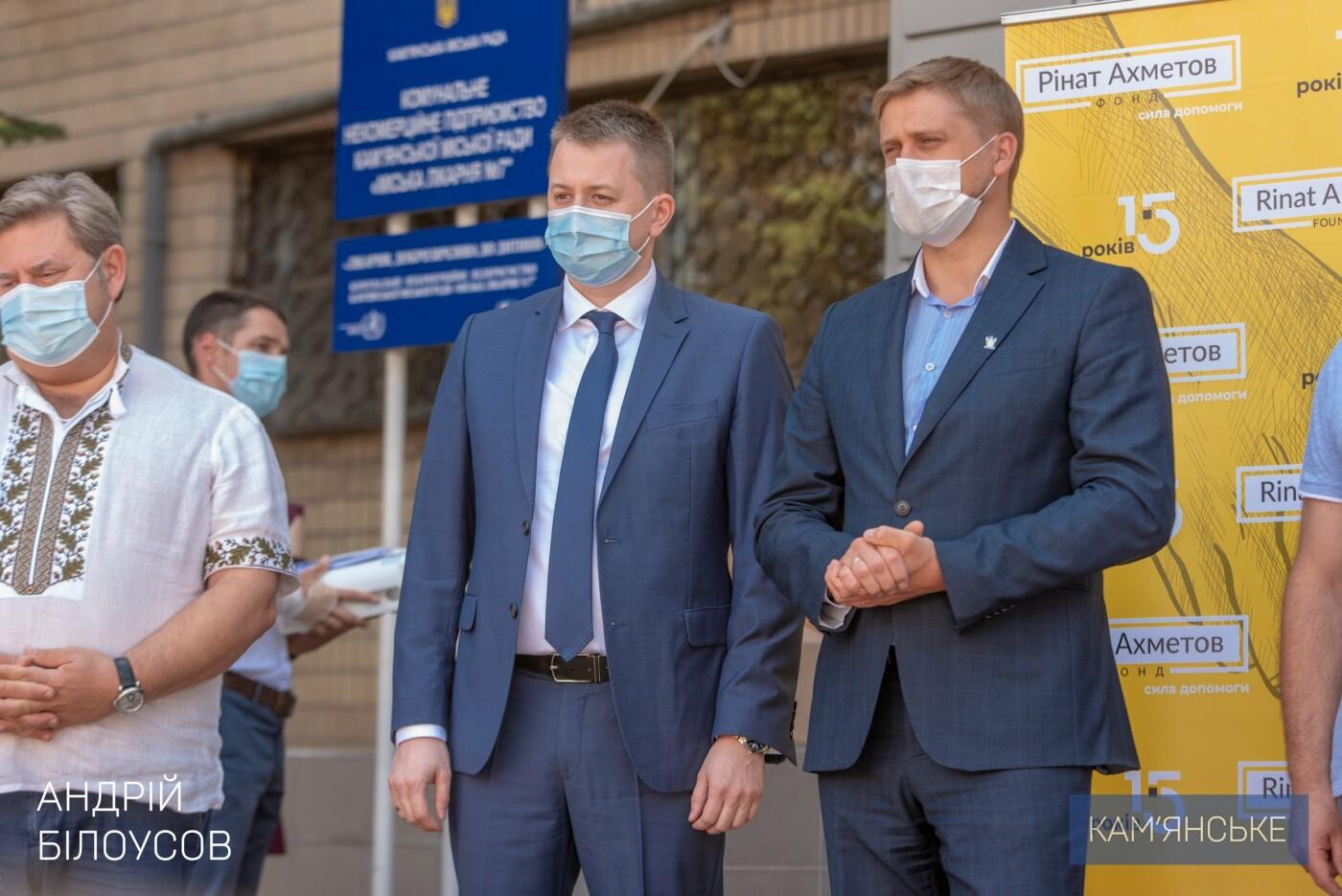 Кам'янська міська лікарня №7 отримала 6 апаратів ШВЛ, фото-1