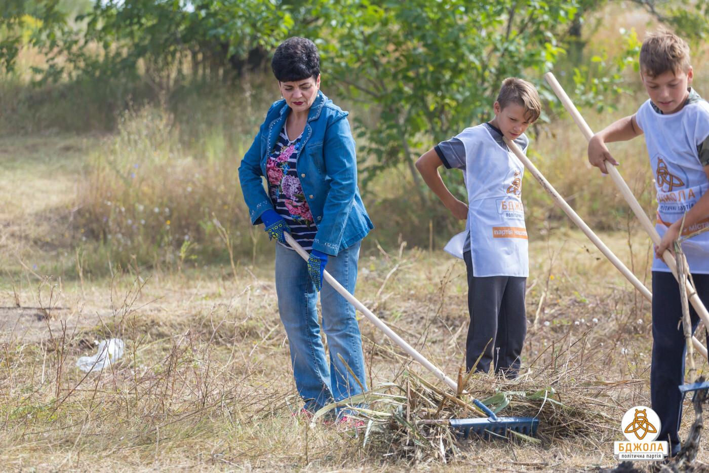 Активісти партії «Бджола» разом з жителями БАМу чистили ставок, фото-1