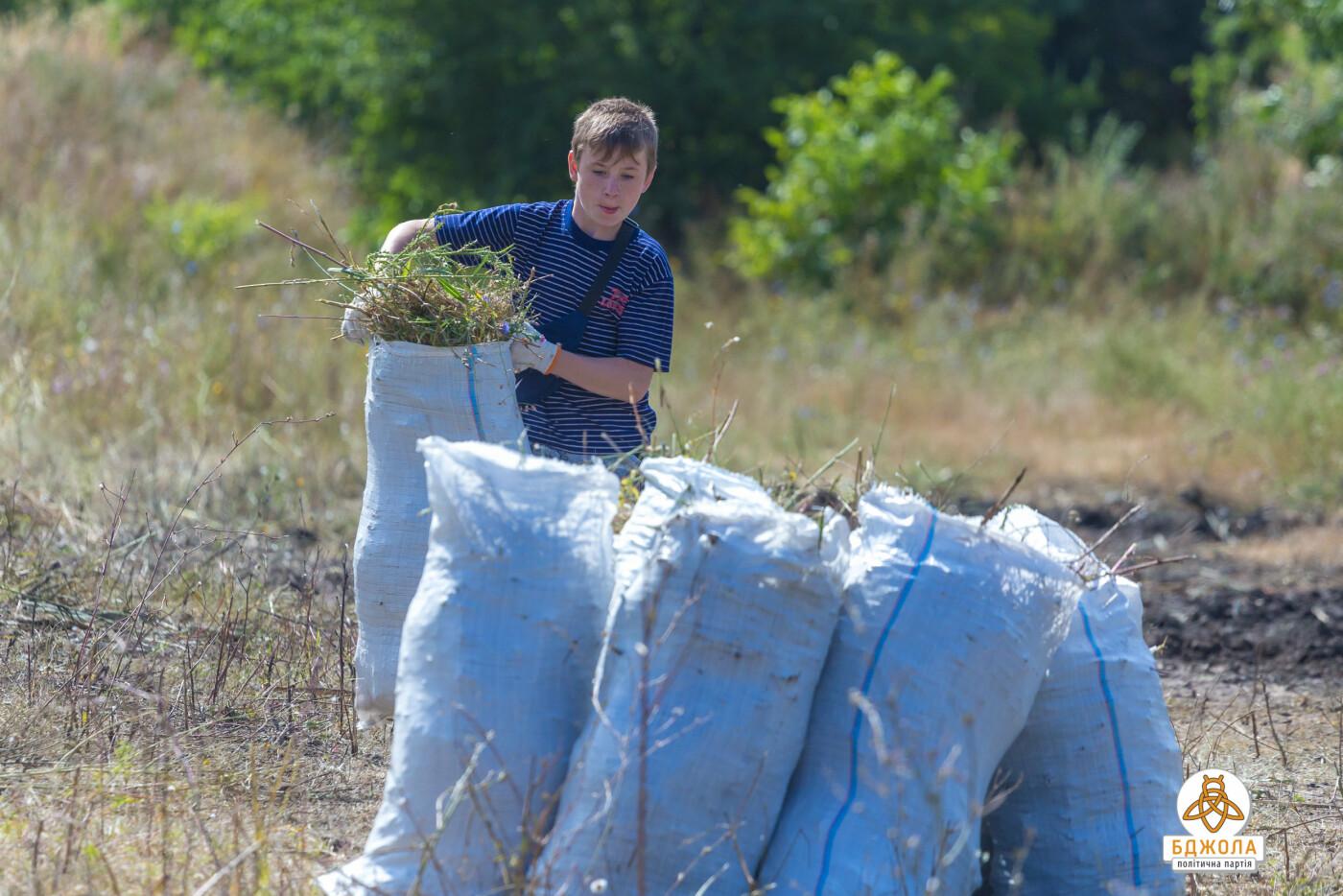 Активісти партії «Бджола» разом з жителями БАМу чистили ставок, фото-7