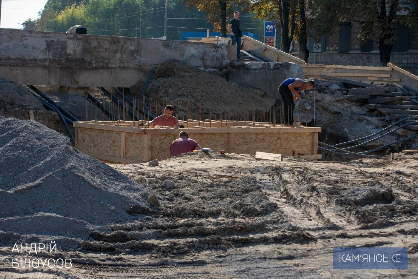 В Каменском продолжается ремонт центрального сквера, фото-1