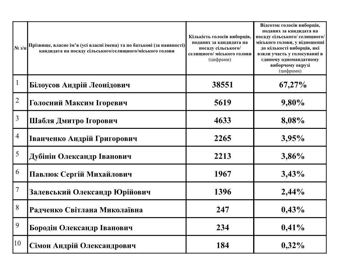 Каменчане отдали действующему мэру Андрею Белоусову – 67,27% голосов: официальные результаты местных выборов, фото-1