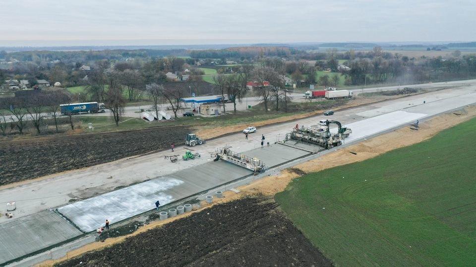 Как выглядит строительство трассы Днепр - Решетиловка с высоты птичьего полета, фото-2