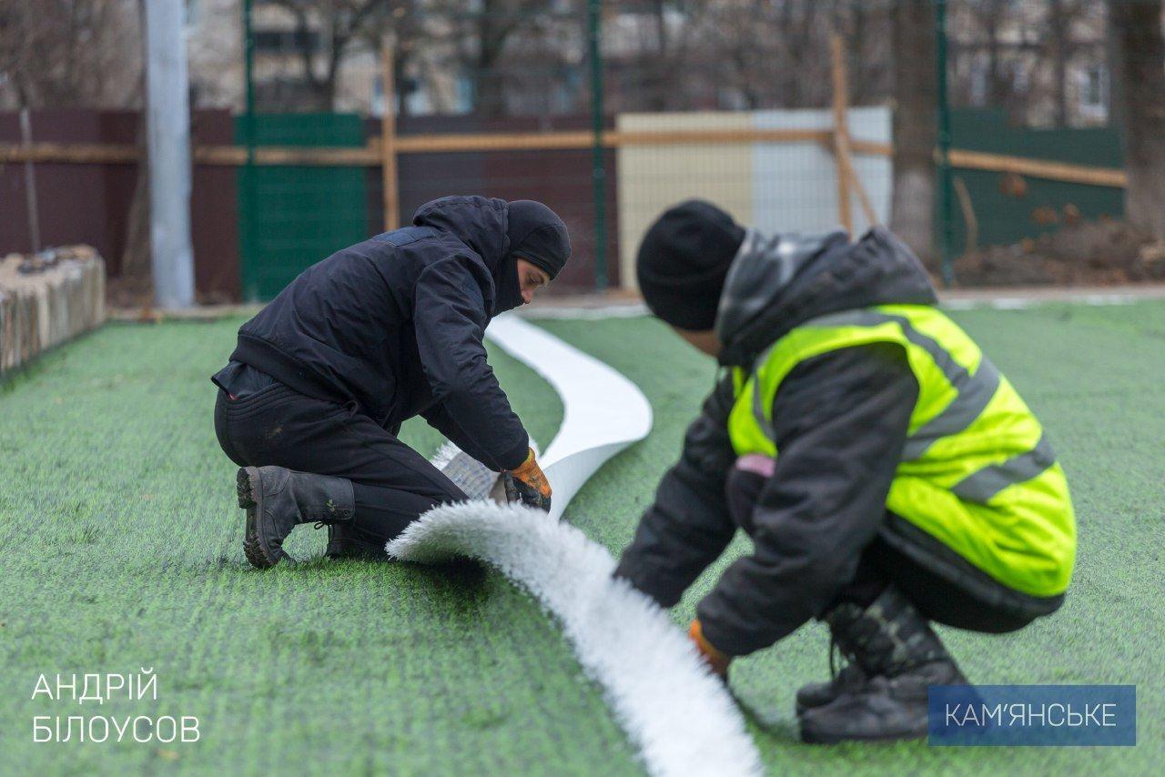В Каменском продолжается строительство многофункциональных стадионов, фото-2