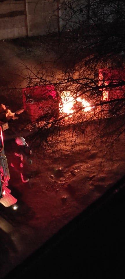 В Каменском сгорел еще один новый мусорный бак, фото-1