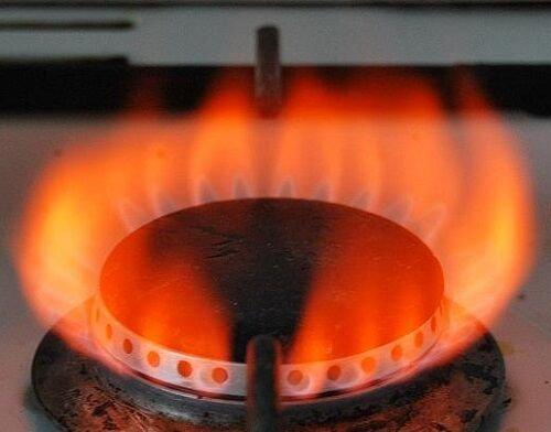 Газ горит красным