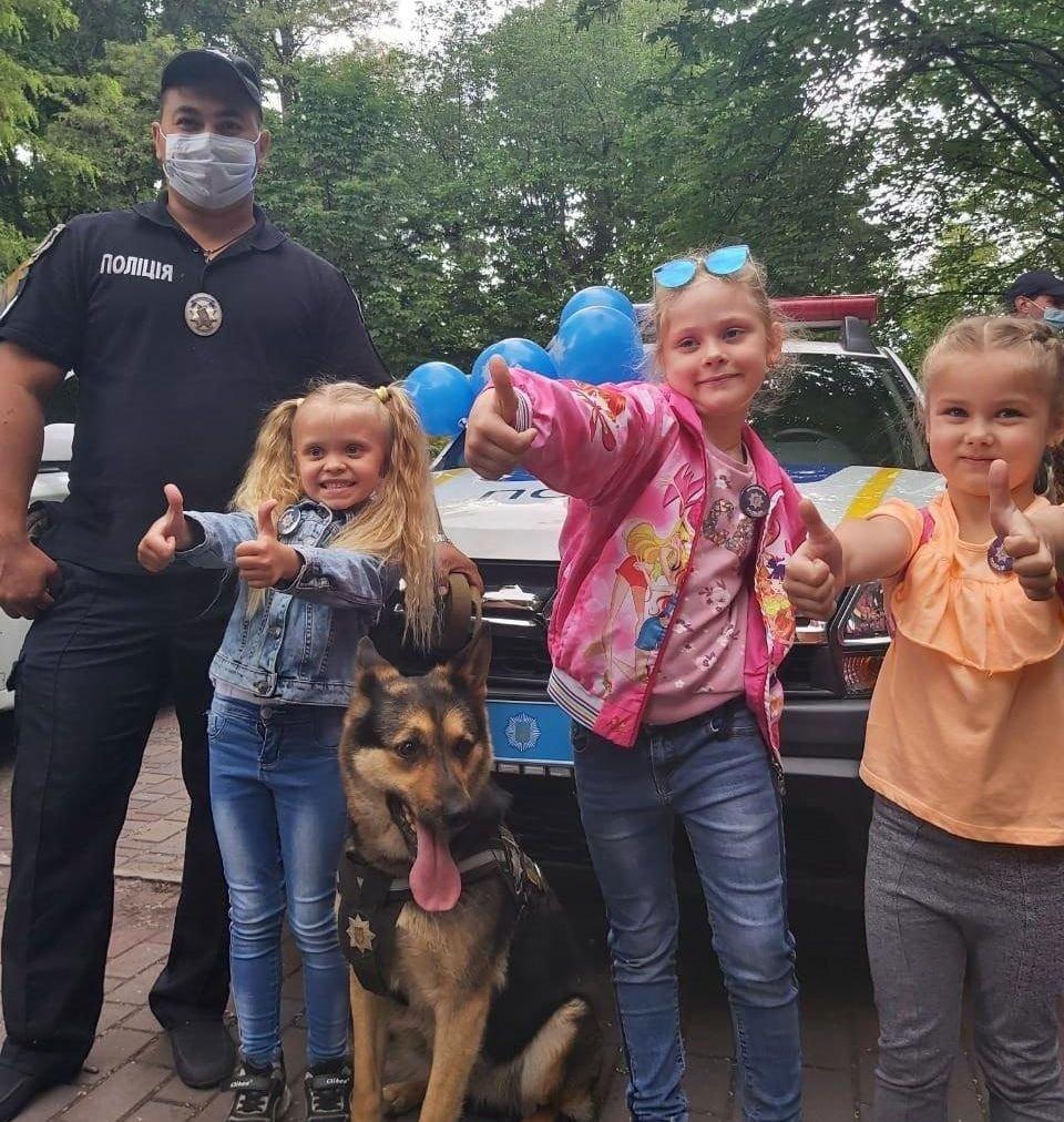 В Каменском полиция развлекала детей, фото-1