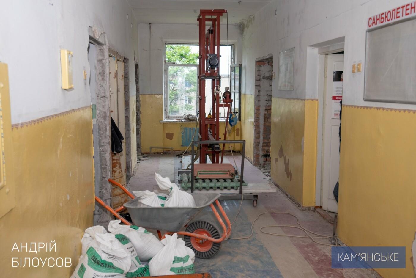 В Каменском продолжают капитально ремонтировать отделения больниц, фото-1